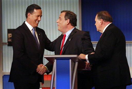 Rick Santorum, Chris Christie, Mike Huckabee_128537