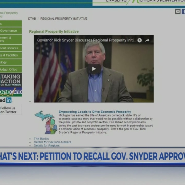 So what's next: petition to recall Governor Rick Snyder approved