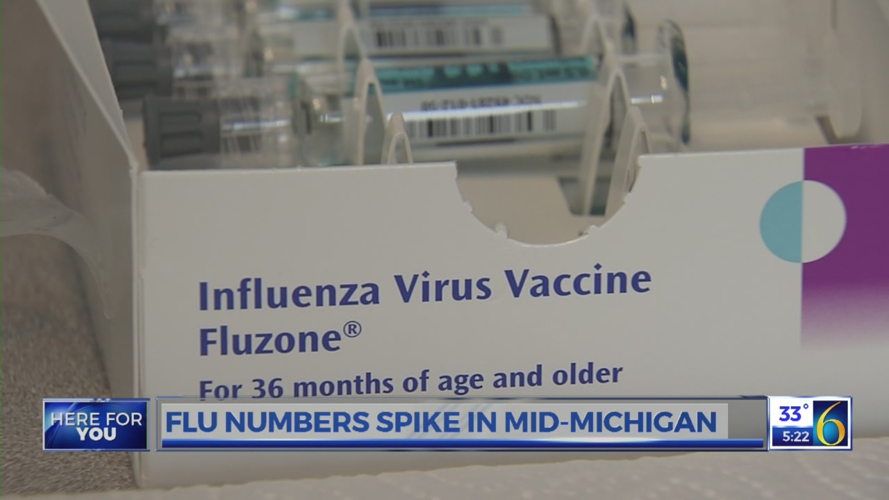 Flu numbers spike in mid-Michigan