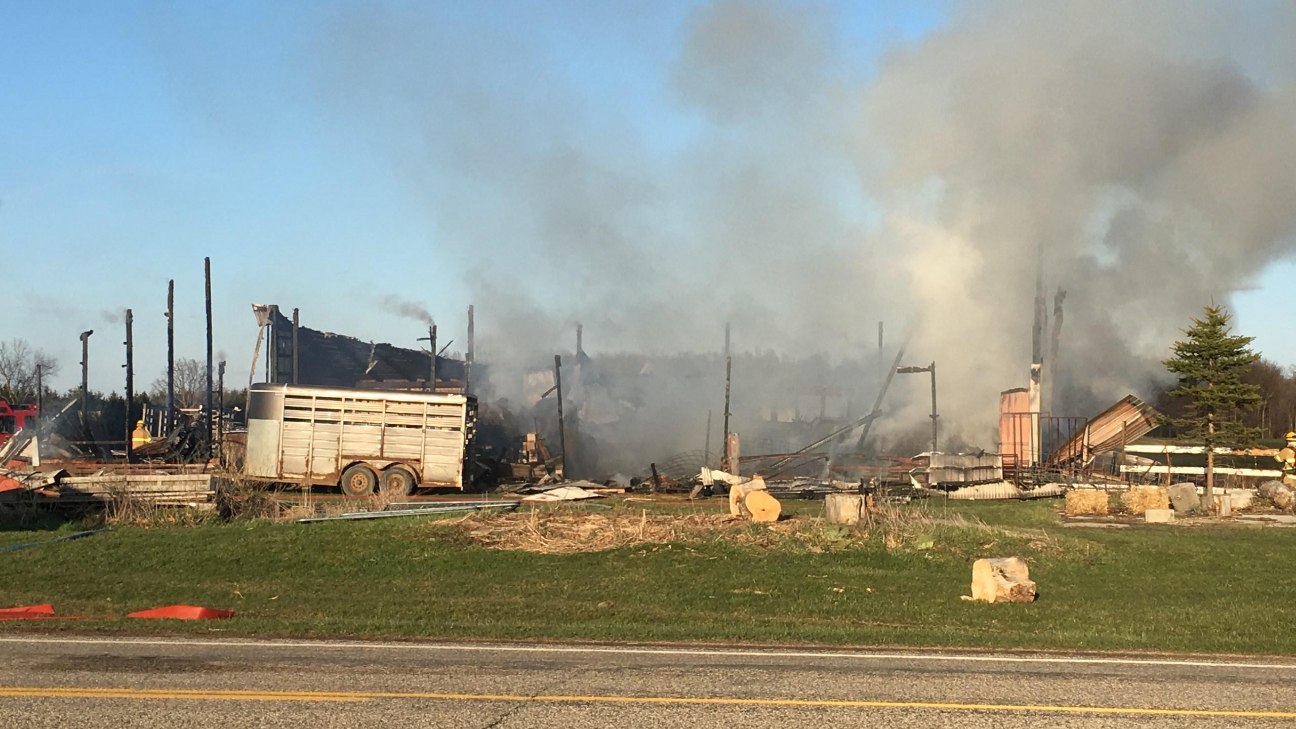 Bath Township barn fire_147100