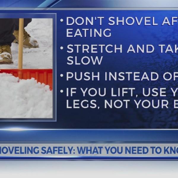 Shoveling safely
