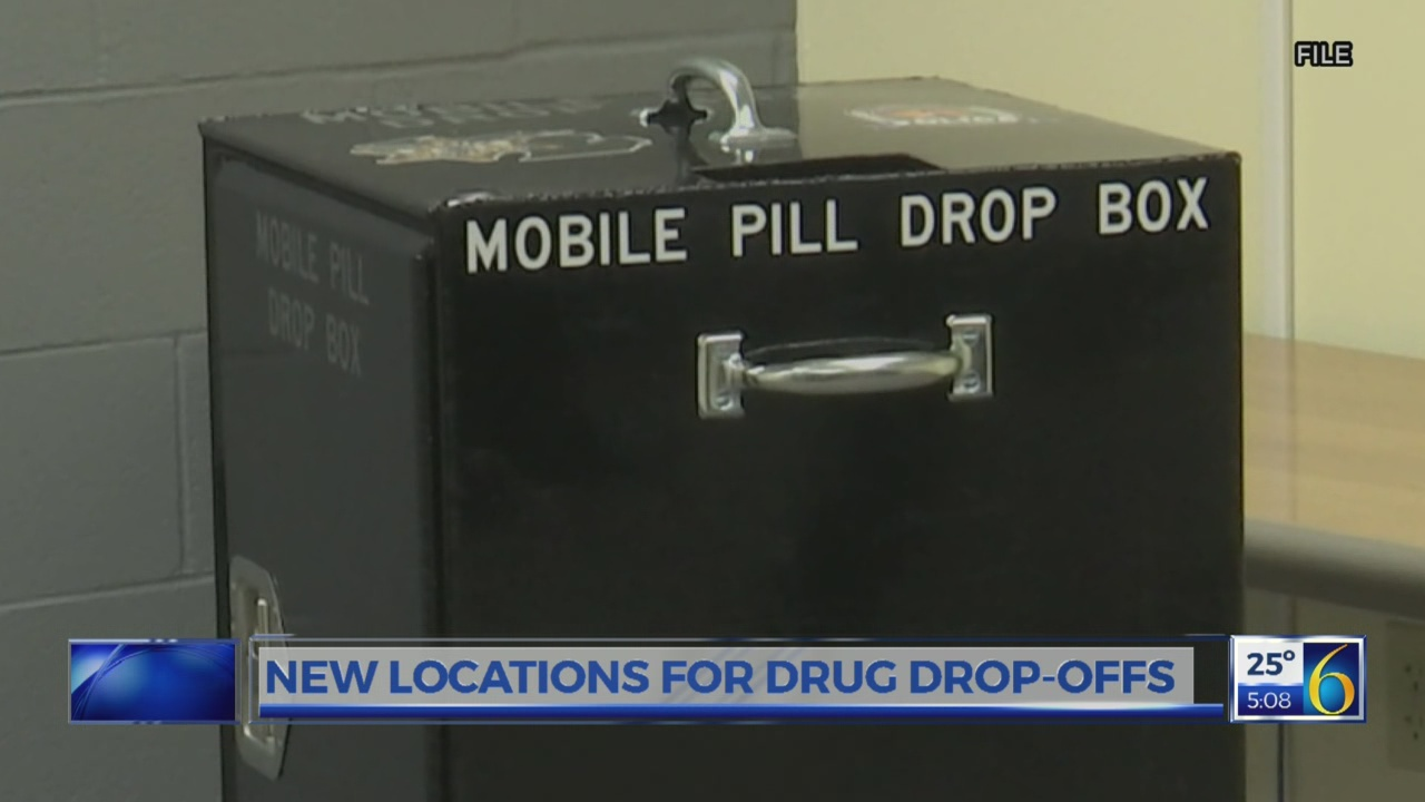 New locations for drug drop-offs