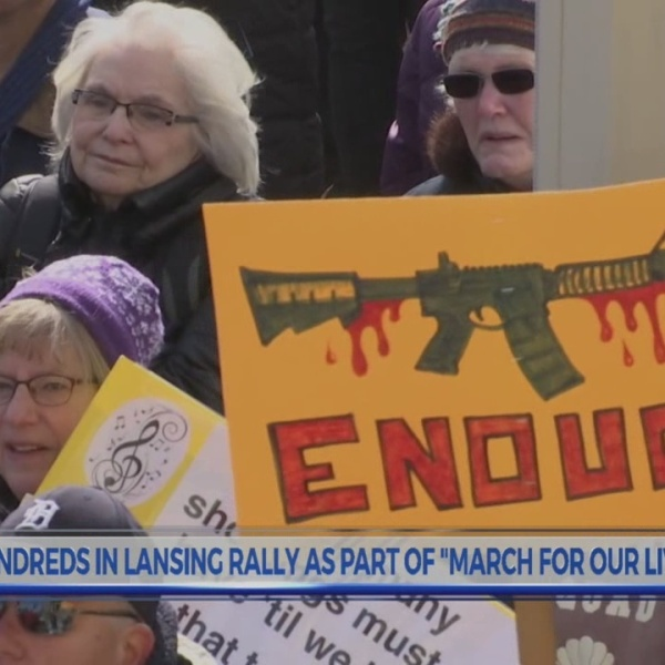 100s march in downtown Lansing