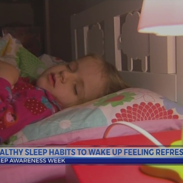 Develop healthy sleep habits