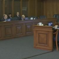 Engler speaks with state senators