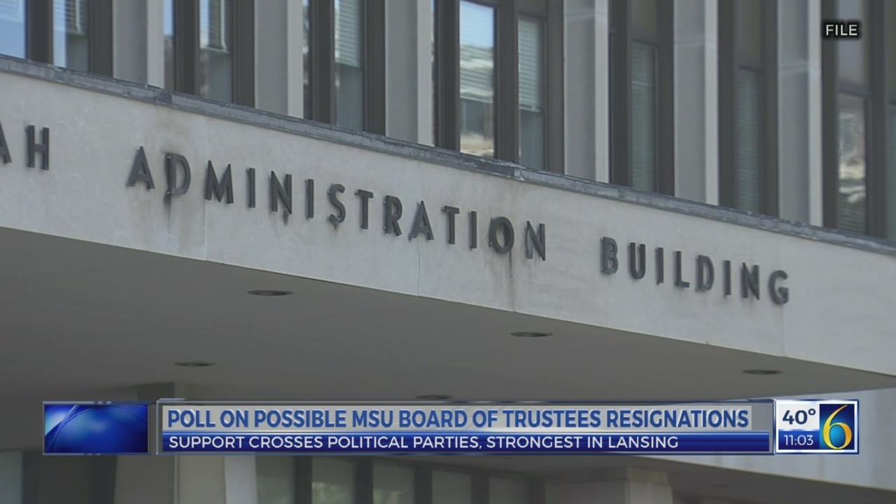Statewide poll: Michigan voters agree MSU Board of Trustees should resign