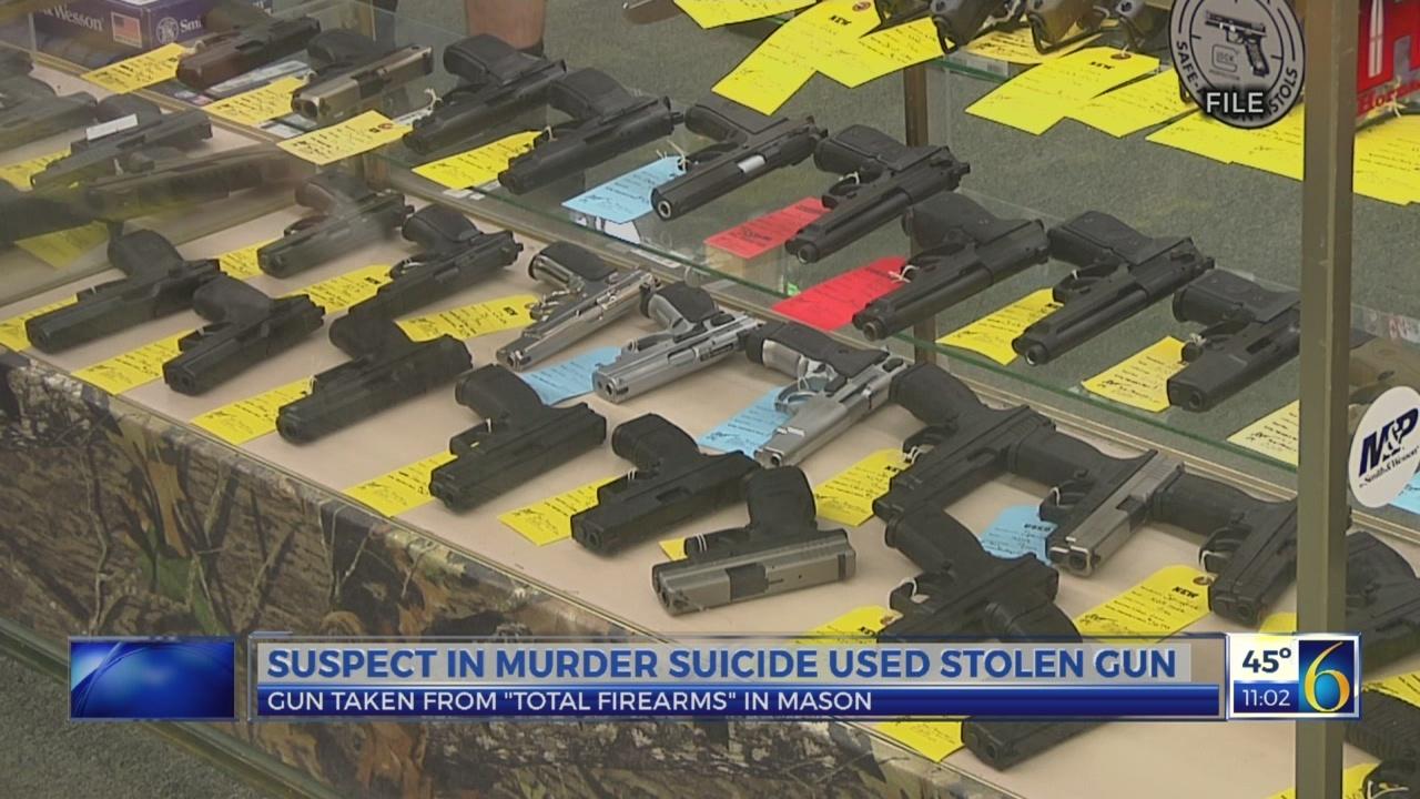 Suspect in murder-suicide used stolen gun