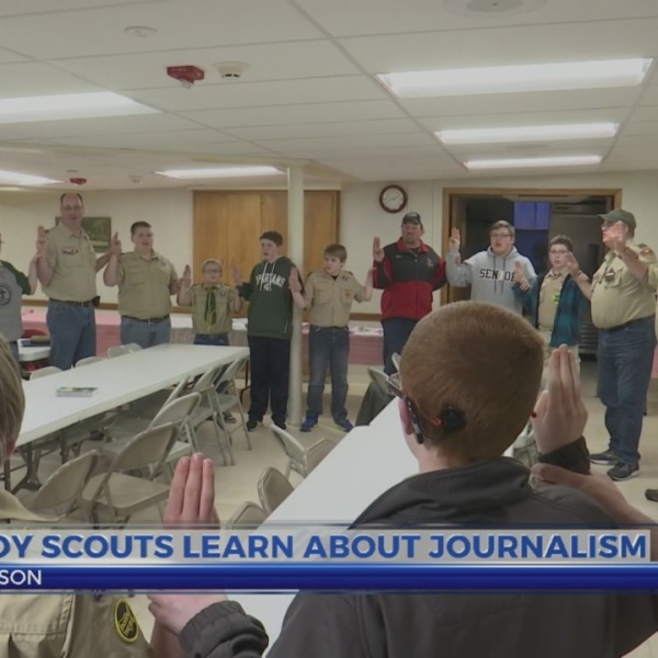 Boy Scouts learn about journalism