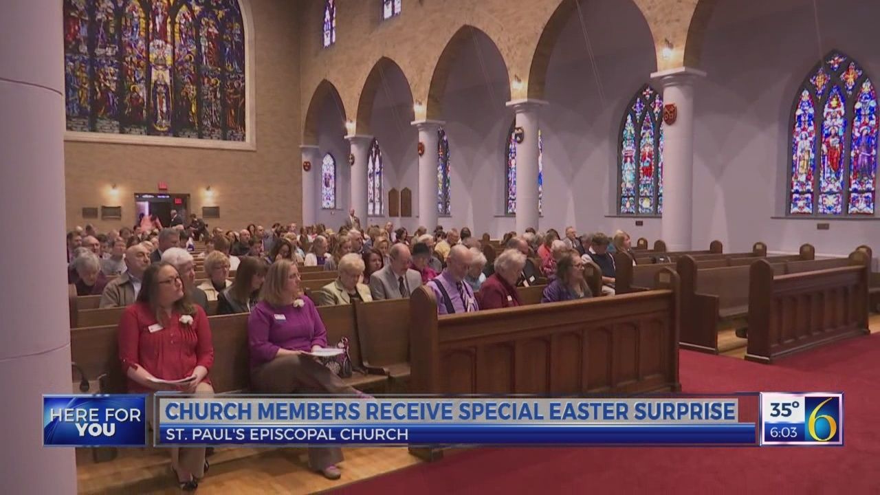 Church members receive special Easter surprise