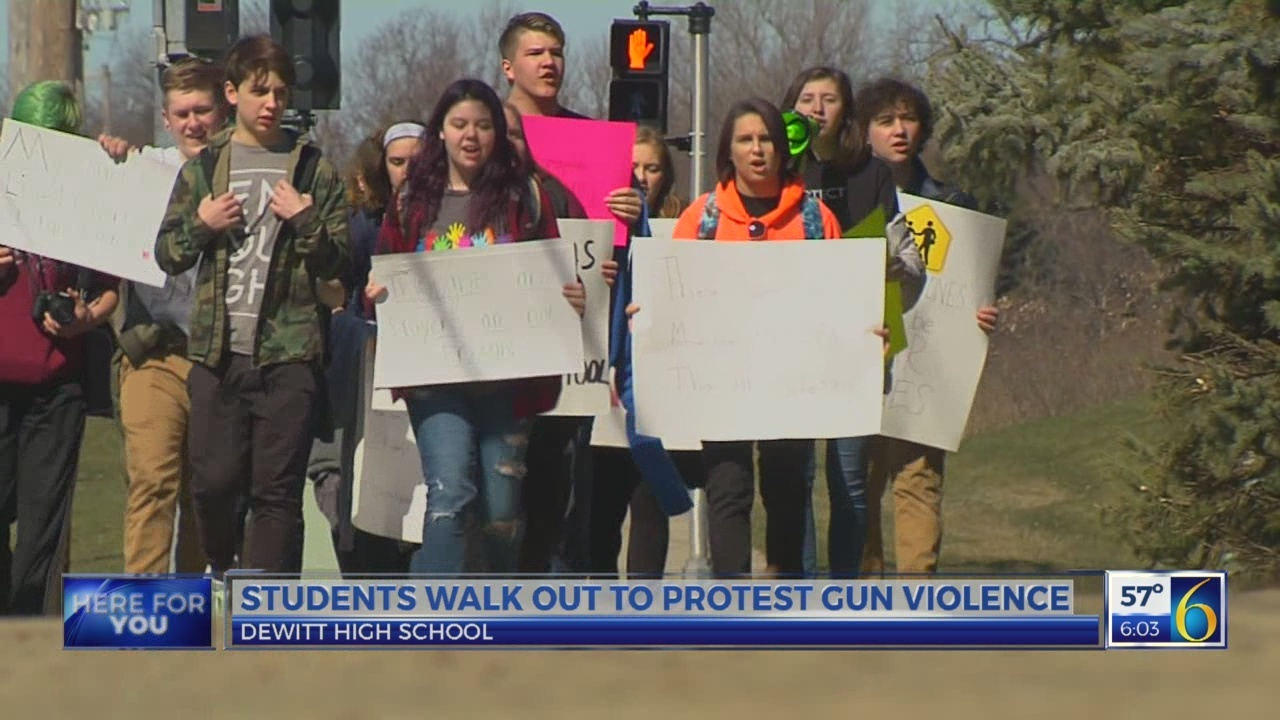 "DeWitt High School students say ""enough is enough"""