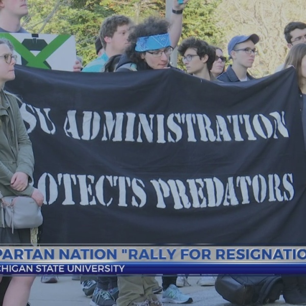 "Spartan community ""rally for resignations"""