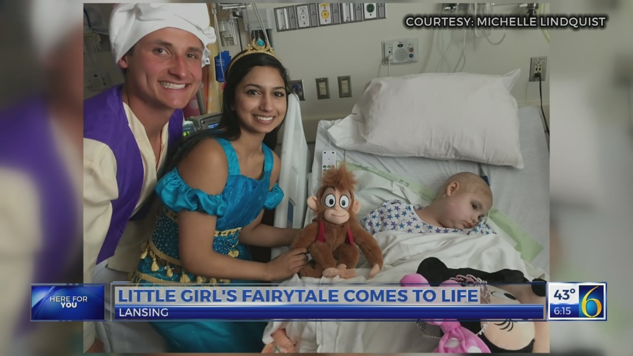 Little girl's fairytale comes to life