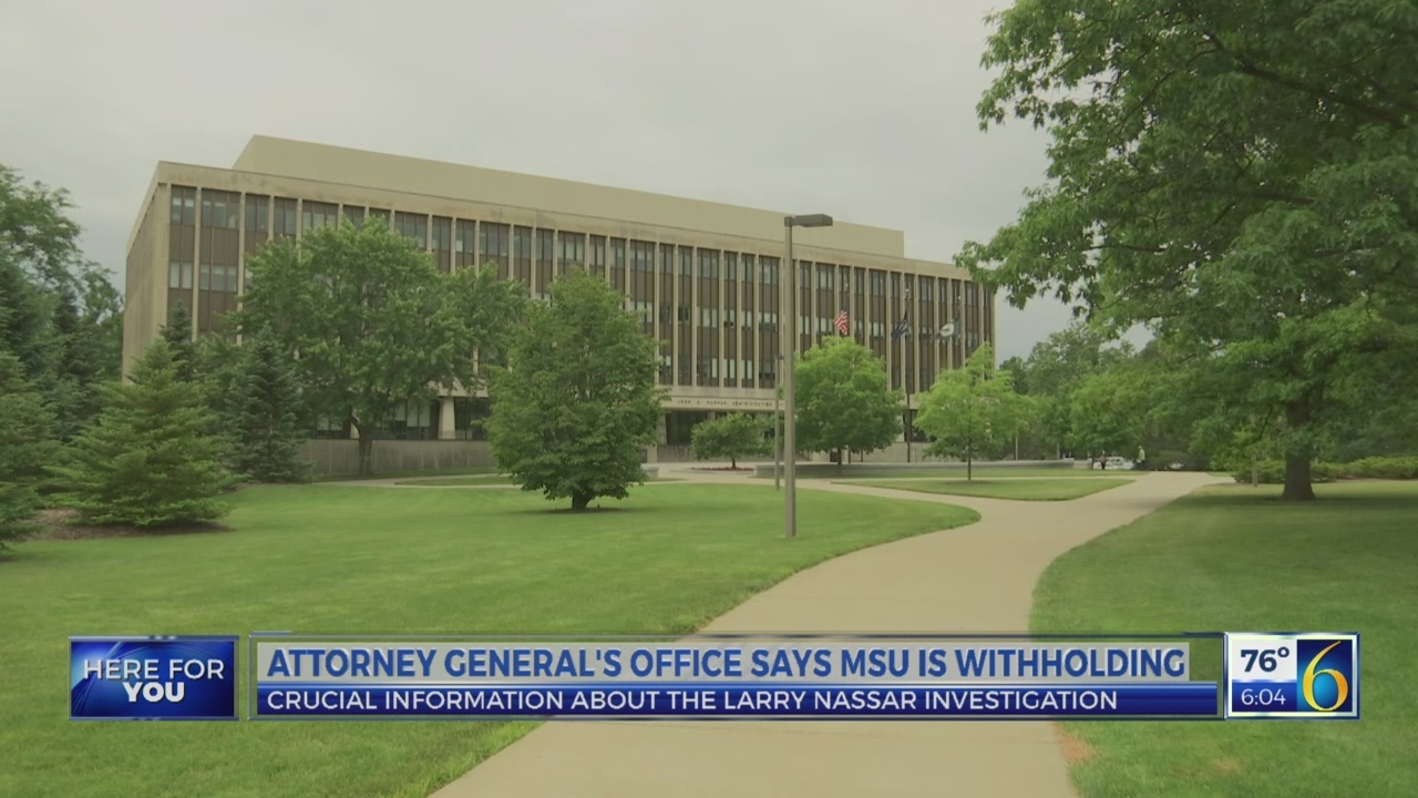 Attorney General's Office says MSU is withholding information
