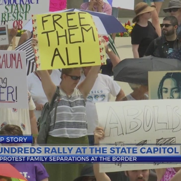 Hundreds rally at the Capitol to protest family separations