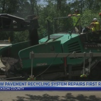 New road recycling system