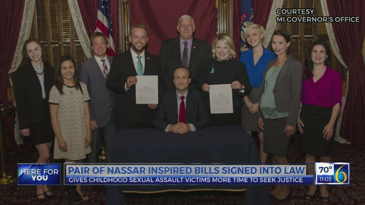 pair of Nassar inspired bills signed into law