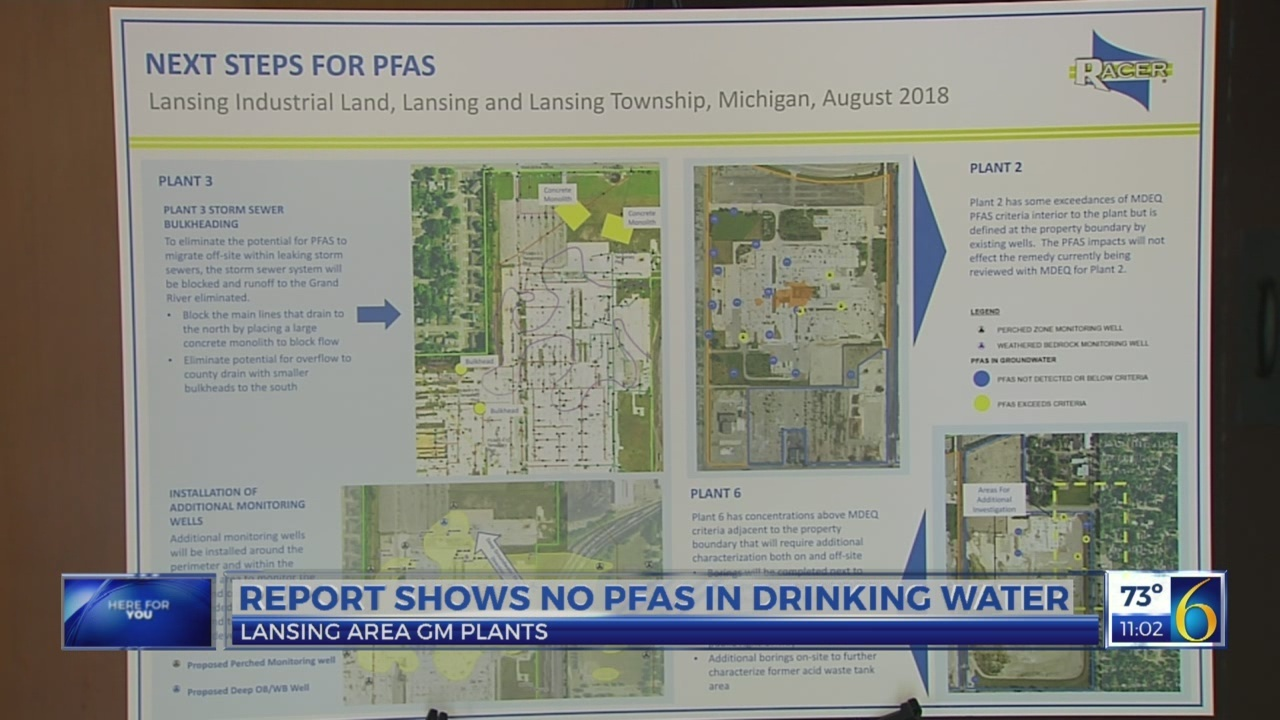 Report: no levels of PFAS found in drinking water at former