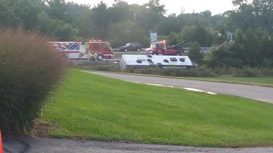 US-127 shut down after fatal crash near St  Johns