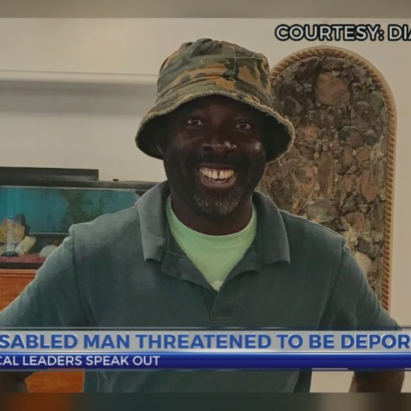 Disabled man threatened to be deported
