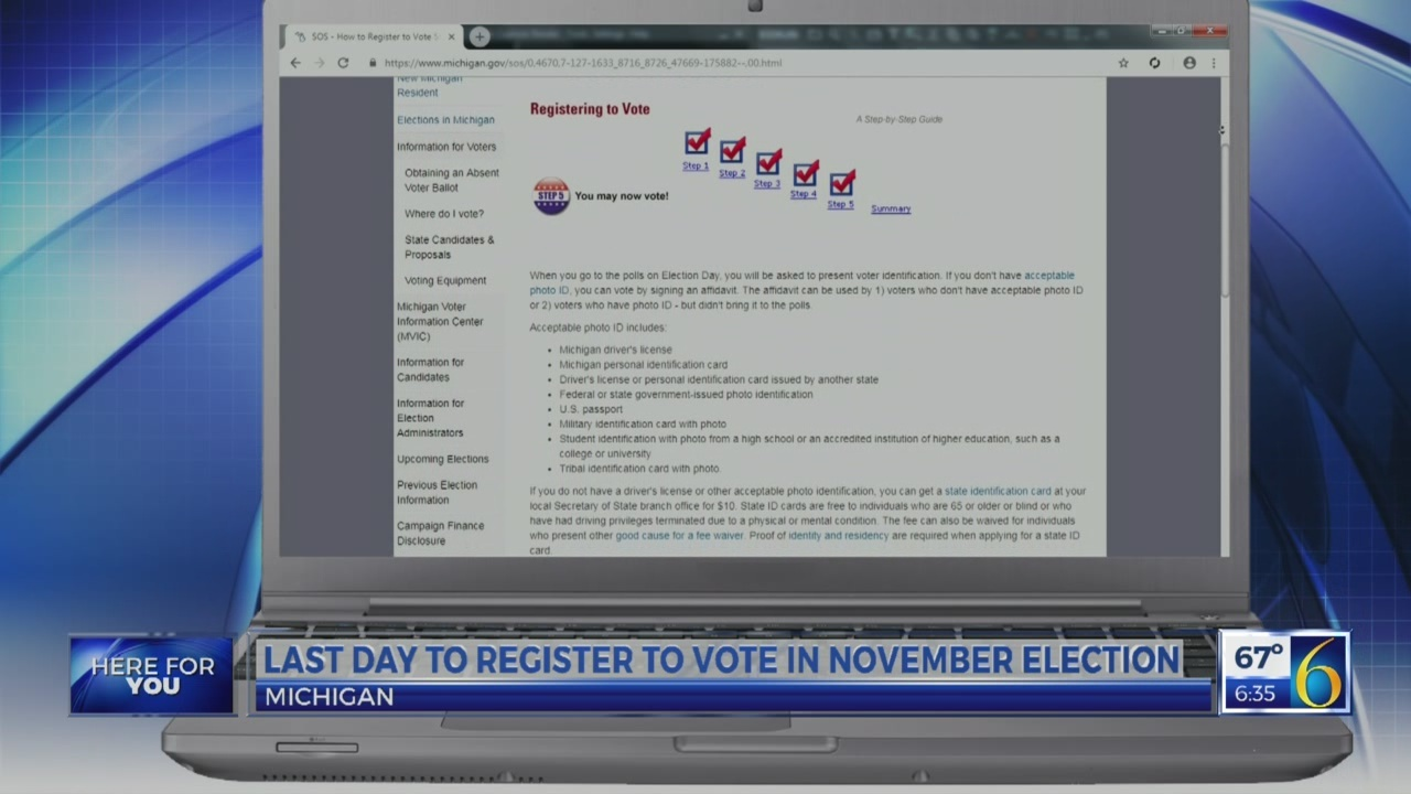 6 News This Morning: register to vote