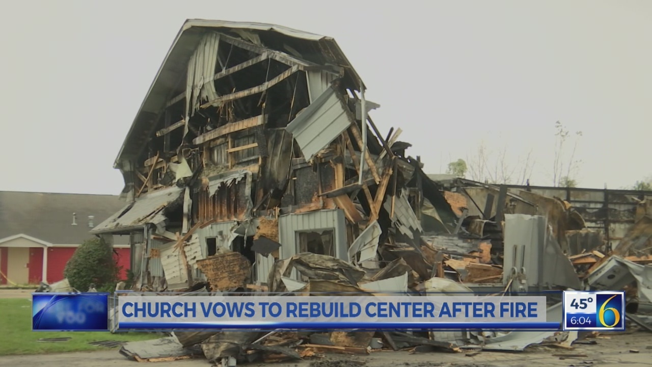 Church vows to rebuild after fire
