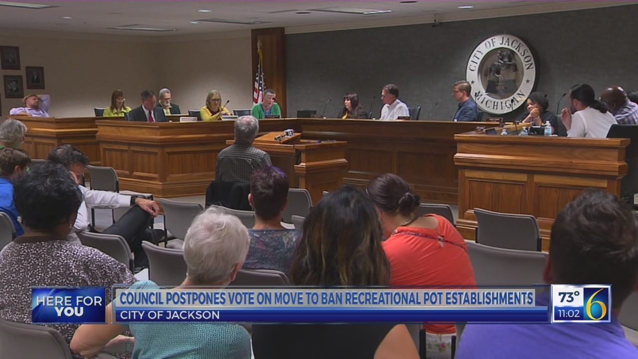 Jackson City Council postpones vote on move to ban recreational pot establishments
