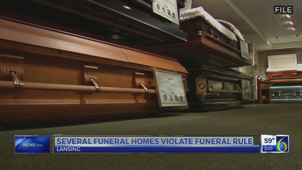 Lansing area funeral homes violate funeral rule