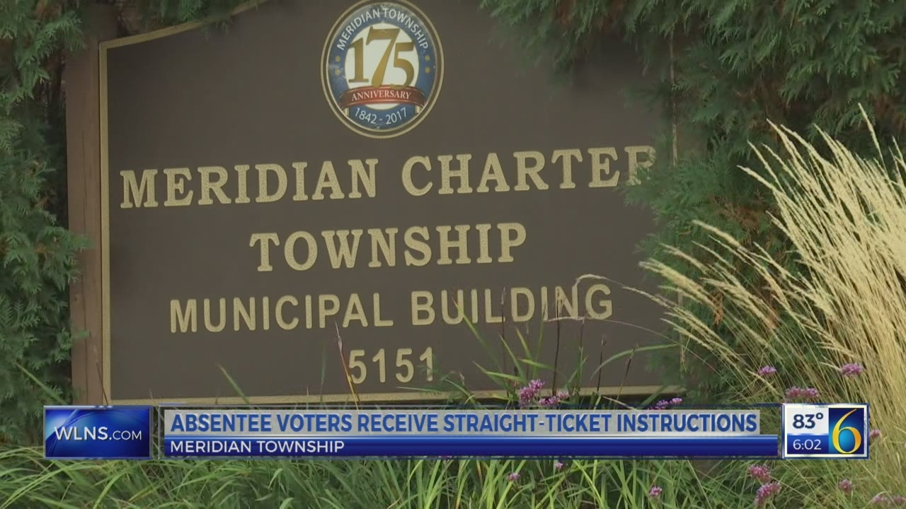 Meridian Twp  absentee voter instructions mistakenly include