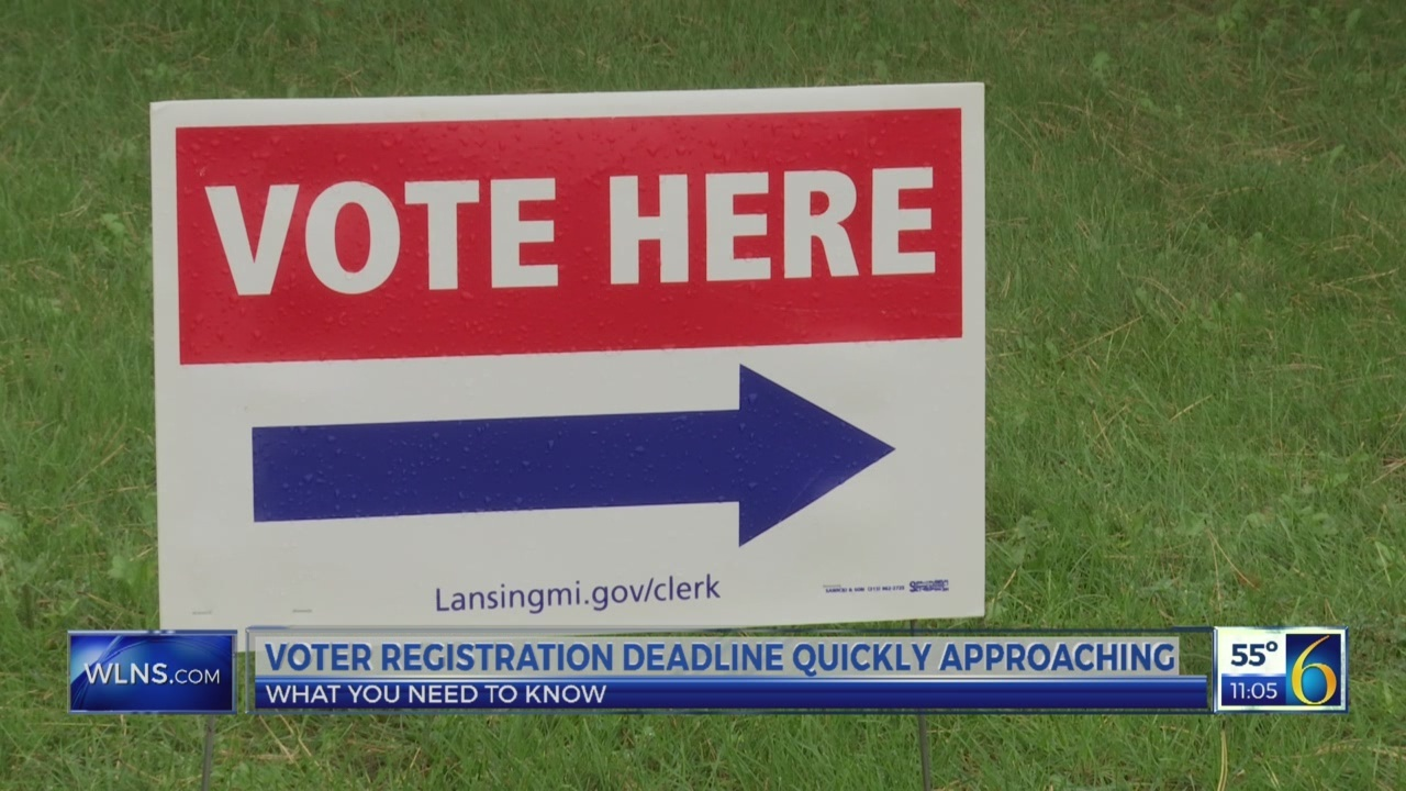 Voter registration deadline quickly approaching