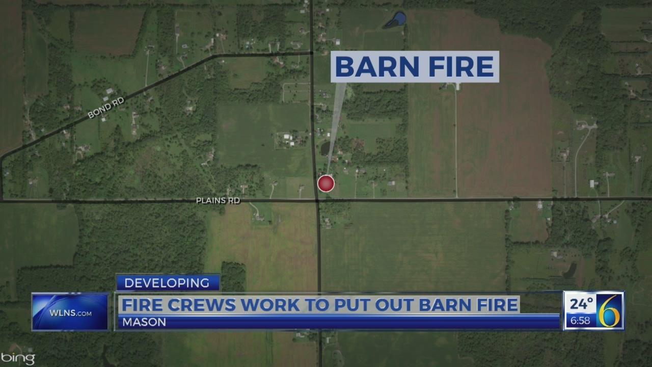 Barn Fire In Mason