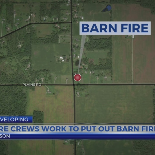 Barn Fire In Mason