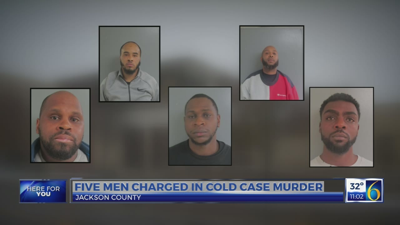 Five men charged in cold case murder