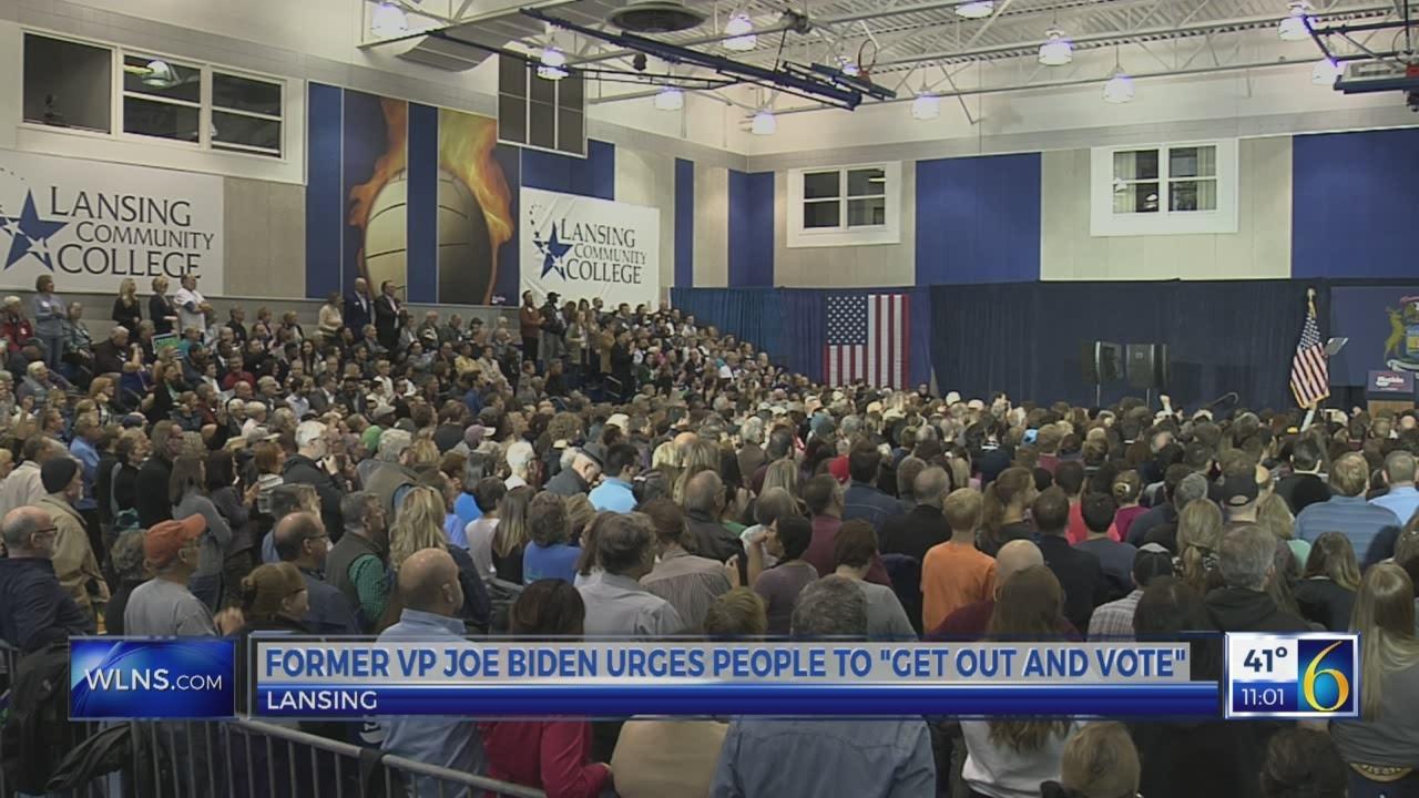 Joe Biden visits Lansing