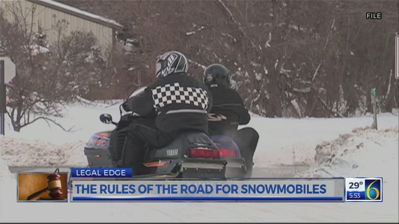 LEGAL EDGE RULES FOR SNOWMOBILES