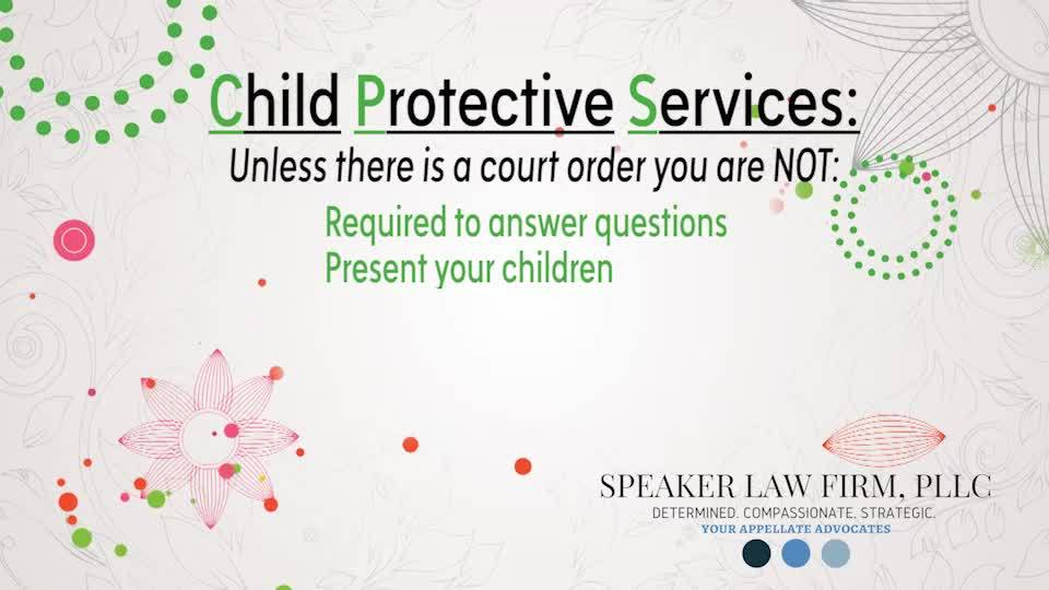My Legal | CPS & Parent's Rights