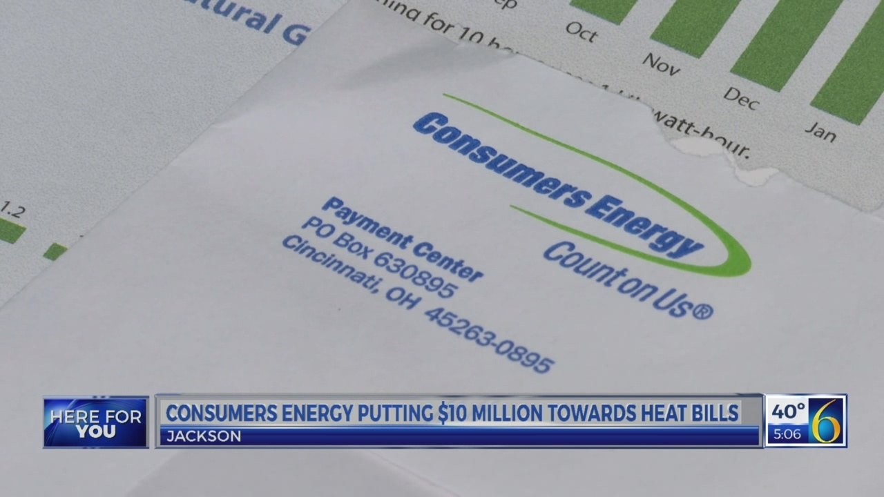 Consumers energy helps pay bills