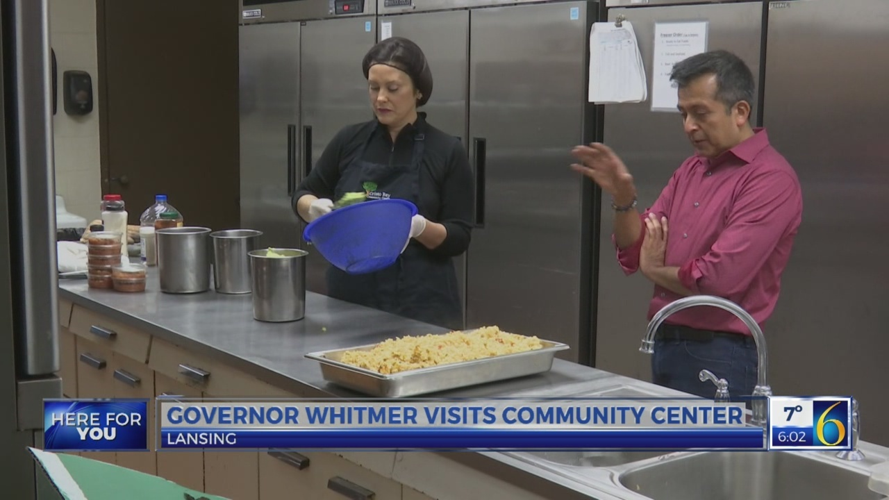 Gov. Whitmer visits a community center in Lansing