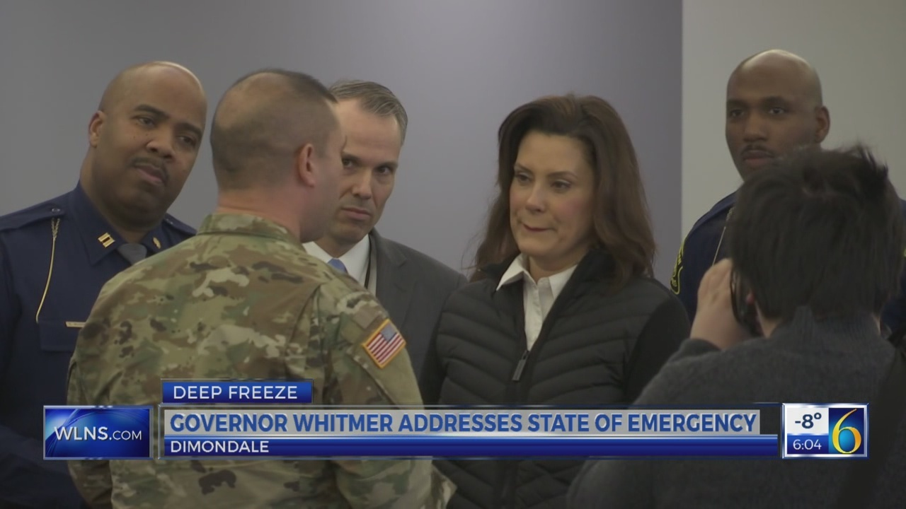 Governor Whitmer addresses State of Emergency