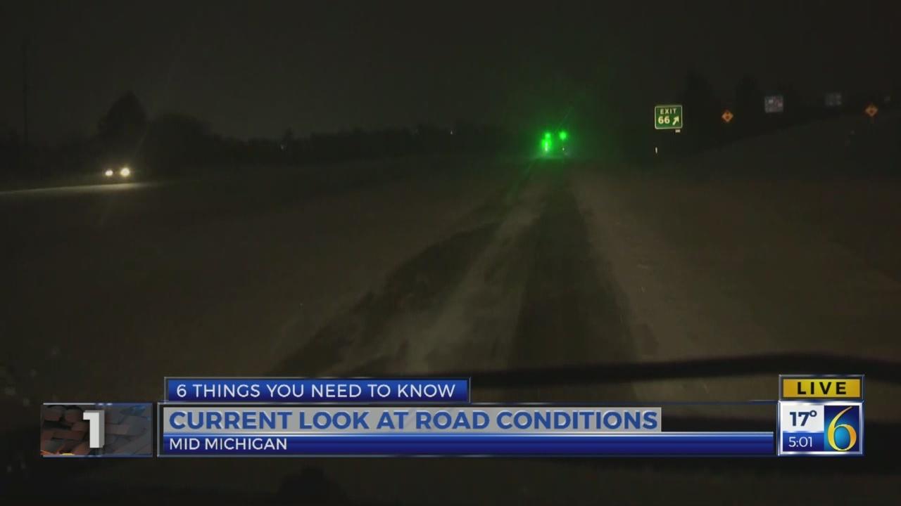 6 News at 5:00 a.m.: snowy roads