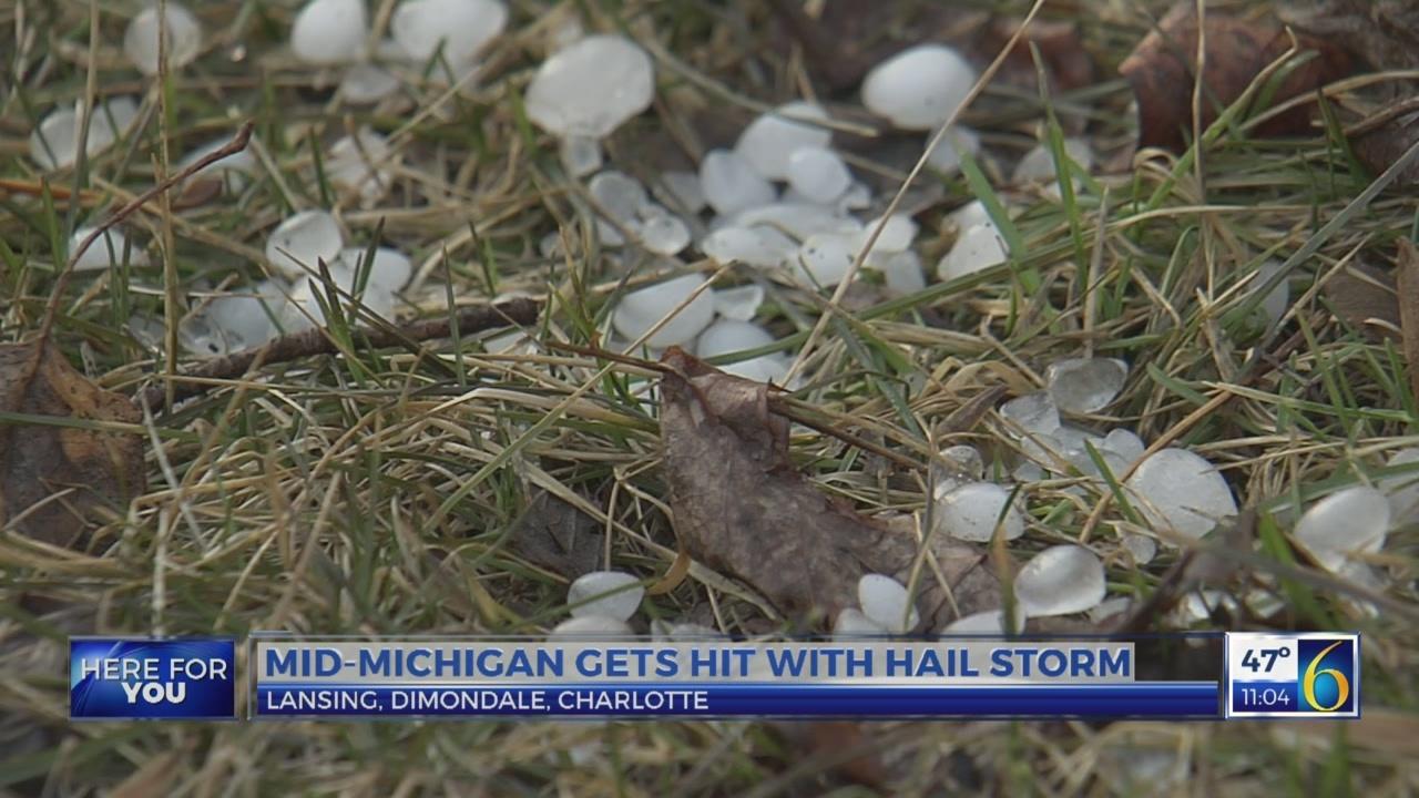 Hail storm in mid-Michigan