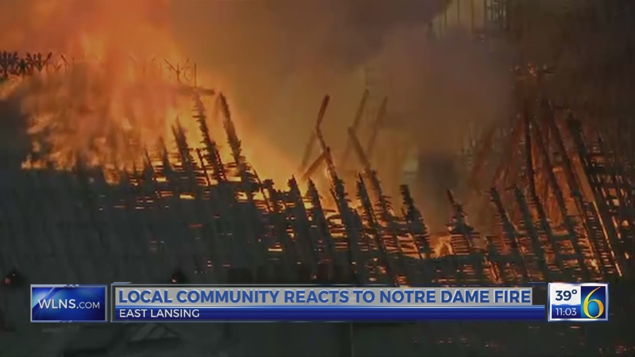 Local reaction to Notre Dame fire