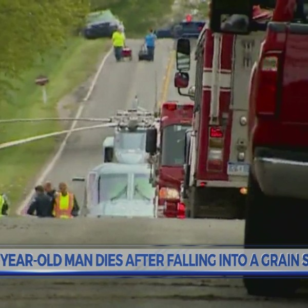 72-year-old man dies after falling into a grain silo