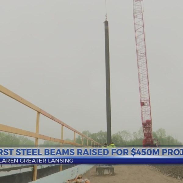 First steel beams raised McLaren