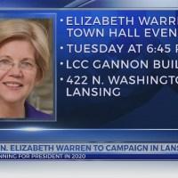 Sen Elizabeth Warren to campaign in Lansing