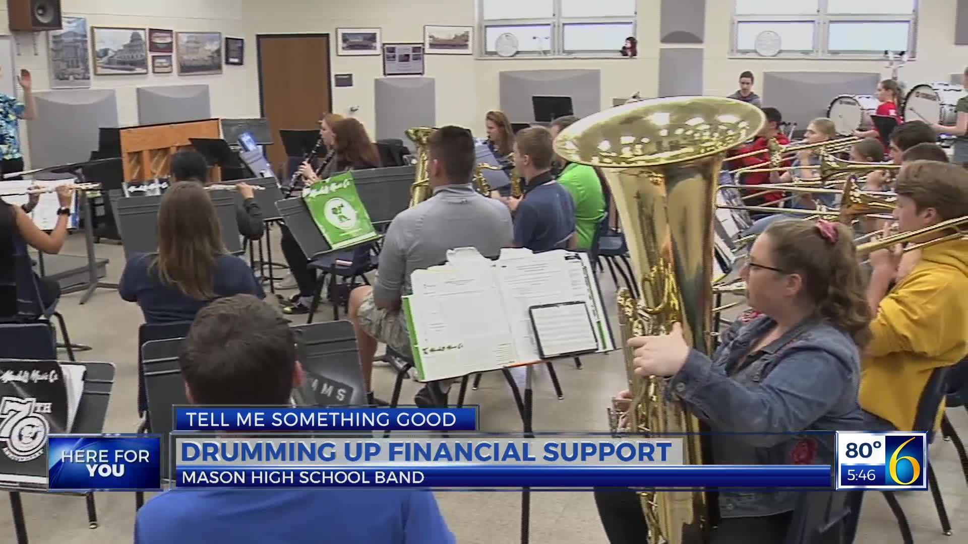 TMSG: Drumming-up Support for Mason H S  Drum Line