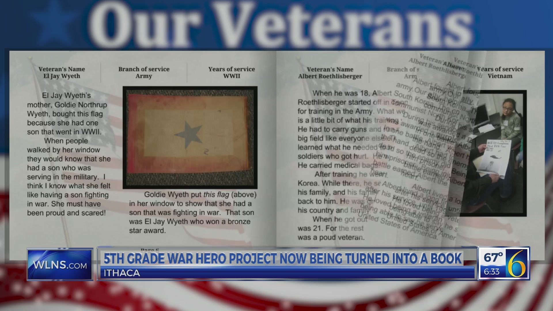 This Morning: 5th graders create book of veteran stories