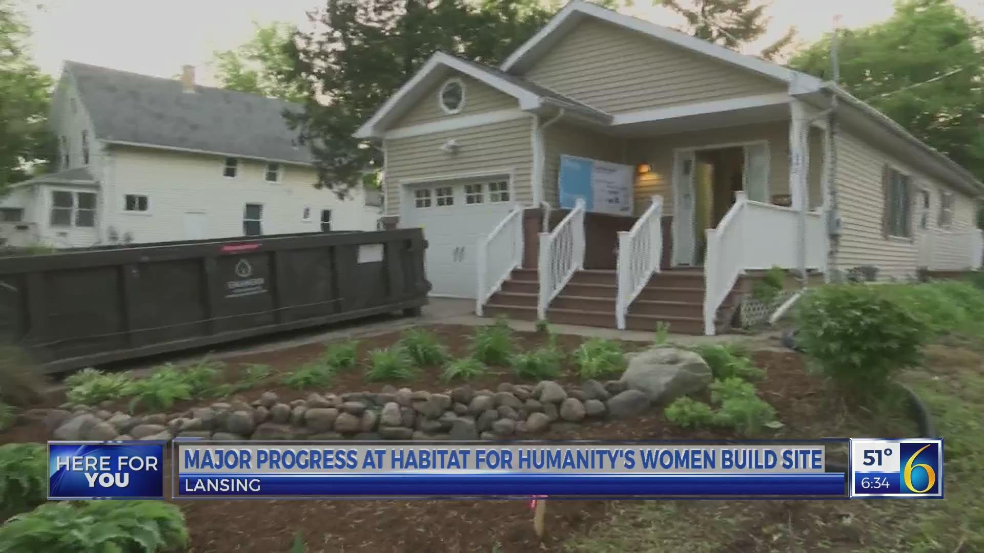 This Morning: Major progress at Habitat for Humanity's women build - live 2