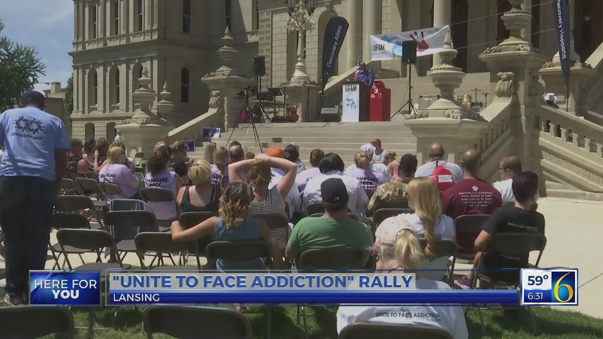 This Morning: unite to face addiction rally
