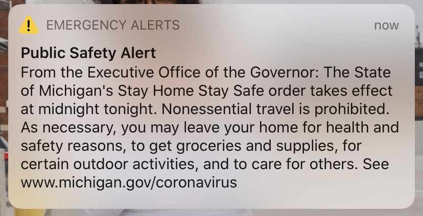 Update Gov Whitmer Orders Stay At Home Order As Covid 19