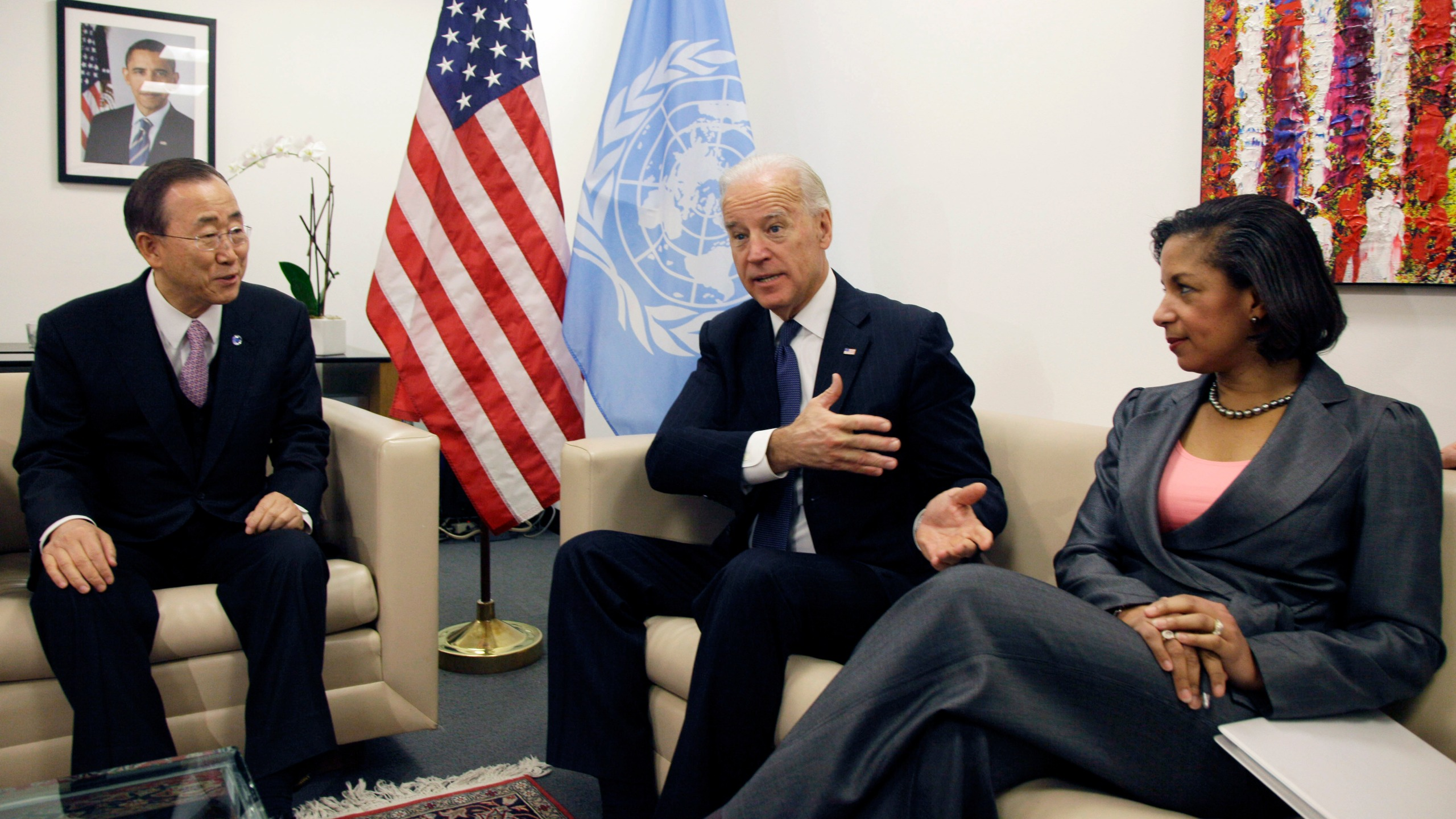Joe Biden, Susan Rice, Ban Ki-moon